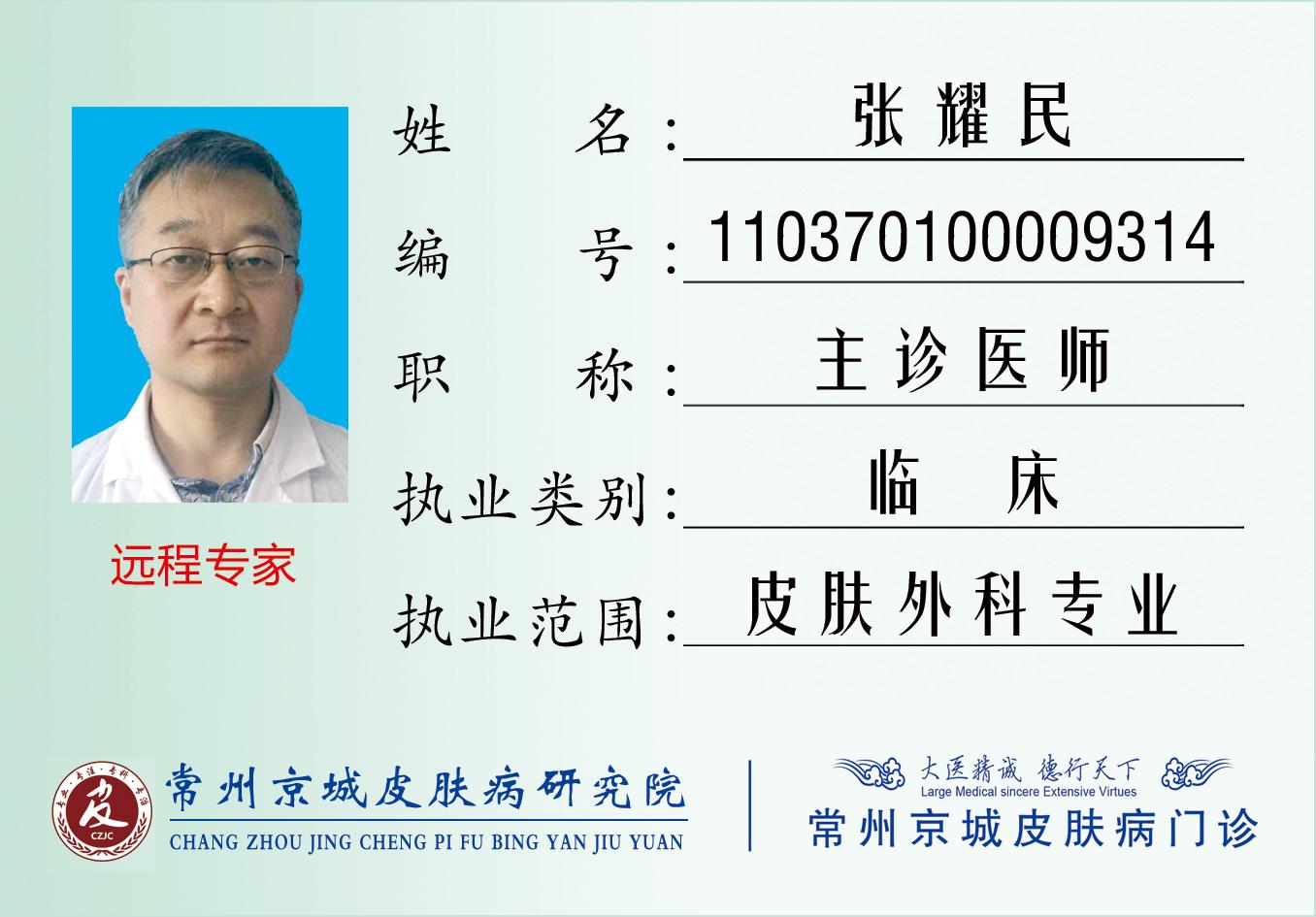 张耀民——京城远程专家